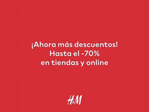 ¡Ahora más descuentos!  H&M