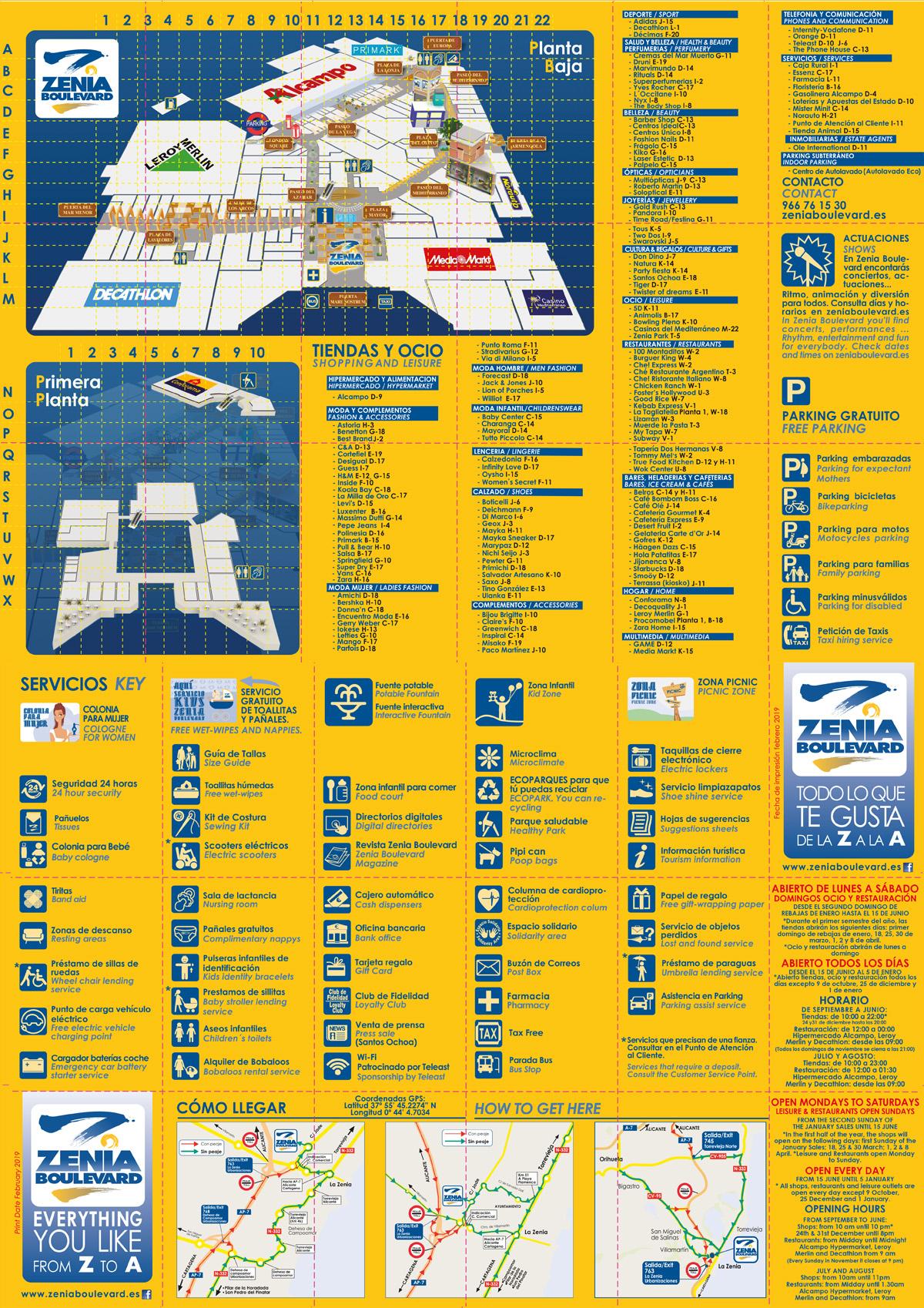 Plano de Tiendas y Ocio